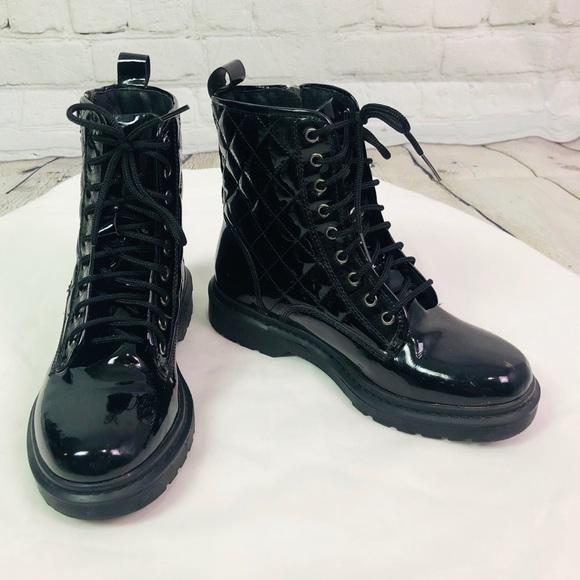 Kurt Geiger Patent Combat Boots | Poshmark